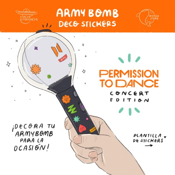 Permission to Dance Stickers